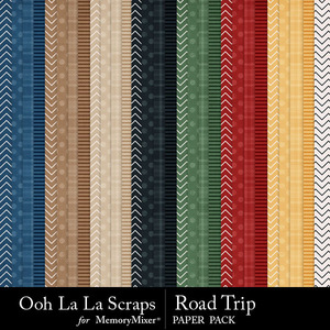 Road trip pattern papers medium