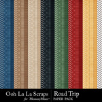 Road trip pattern papers small