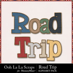 Road Trip Alphabets-$3.49 (Just So Scrappy)