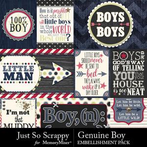 Genuine boy pocket cards medium