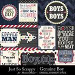 Genuine boy pocket cards small