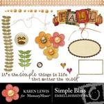 Simple Bliss Embellishment Pack-$3.00 (Karen Lewis)
