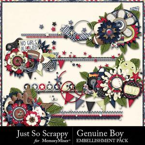 Genuine boy cluster stitches medium
