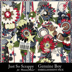 Genuine Boy Page Borders JSS-$2.99 (Just So Scrappy)