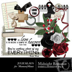 Midnight Romance Embellishment Pack-$3.00 (Julie Klaus)