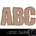 Snow Berry Alphabet Pack-$1.00 (Julie Klaus)