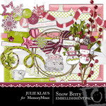 Snow Berry Embellishment Pack-$3.00 (Julie Klaus)