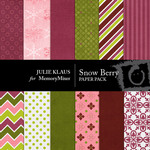 Snow Berry Paper Pack-$3.50 (Julie Klaus)