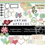 5 Things I love About You Embellishment Pack-$3.49 (Karen Lewis)