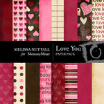 Love You Paper Pack-$3.99 (Melissa Nuttall)