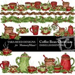 Coffee Bean Christmas Embellishment Pack-$3.50 (Tara Reed Designs)