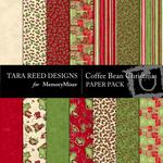 Coffee Bean Christmas Paper Pack-$2.00 (Tara Reed Designs)