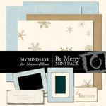 Be Merry Mini Pack-$2.00 (My Minds Eye)