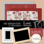 Love Mini Pack-$2.00 (My Minds Eye)