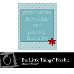 The Little Things WordArt 4 Freebie-$0.00 (Lasting Impressions)