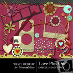 Love Plus One Embellishment Pack-$3.00 (Traci Murphy)