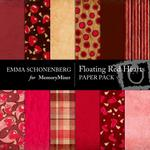 Floating Red Hearts Paper Pack-$3.49 (Emma Schonenberg)