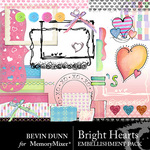 Bright Heart Embellishment Pack-$3.49 (Bevin Dunn)