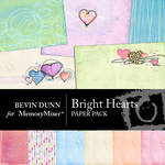 Bright Heart Paper Pack-$4.00 (Bevin Dunn)