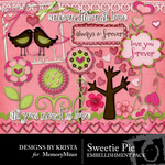 Sweetie Pie Embellishment Pack-$3.50 (Designs by Krista)