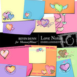 Bright Hearts Love Notes Embellishment Pack-$2.99 (Bevin Dunn)