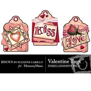 Valentine tags emb medium