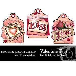 Valentine tags emb medium