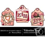 Valentine Tags Embellishment Pack-$1.49 (Bisous By Suzanne Carillo)