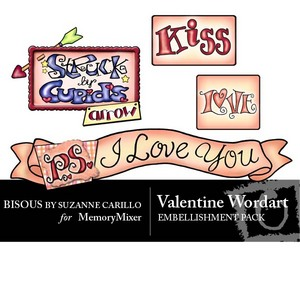 Valentine wordart emb medium
