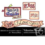 Valentine WordArt Embellishment Pack-$2.00 (Bisous By Suzanne Carillo)