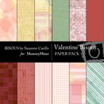 Valentine Bisous Paper Pack-$3.49 (Bisous By Suzanne Carillo)