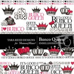Bunco Queen Embellishment Pack-$3.50 (Tara Reed Designs)
