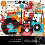 Color of Music Embellishment Pack-$3.50 (Julie Klaus)