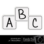 Family Fun Alphabet Pack-$0.99 (Julie Klaus)