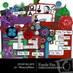 Family Fun Embellishment Pack-$3.00 (Julie Klaus)