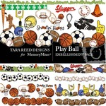 Play Ball Embellishment Pack-$3.50 (Tara Reed Designs)