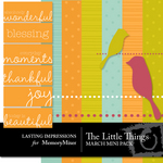 The Little Things March Mini Pack-$3.00 (Lasting Impressions)