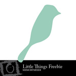 The Little Things March Blue Bird Freebie-$0.00 (Lasting Impressions)