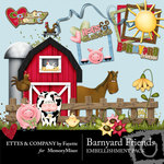 Barnyard Friends Embellishment Pack-$3.00 (Ettes and Company by Fayette)