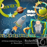 Rocket Man Embellishment Pack-$3.00 (Ettes and Company by Fayette)