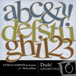 Dude Alphabet Bonus Pack-$2.00 (Ettes and Company by Annette)