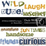 Dude WordArt Pack-$1.50 (Ettes and Company by Annette)