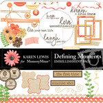 Defining Moment Embellishment Pack-$3.00 (Karen Lewis)