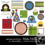 Make Him a Wish Embellishment Pack-$3.00 (Melissa Nuttall)
