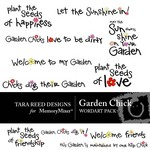 Garden Chick WordArt Pack-$1.50 (Tara Reed Designs)