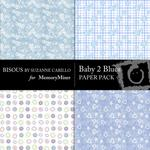 Baby 2 Blue Paper Pack-$2.00 (Bisous By Suzanne Carillo)
