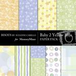 Baby 2 Yellow Blue Paper Pack-$4.00 (Bisous By Suzanne Carillo)