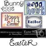 Easter WordArt Embellishment Pack-$1.50 (Bisous By Suzanne Carillo)