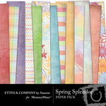 Spring Splendor Paper Pack-$4.00 (Ettes and Company by Annette)