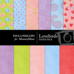 LoveBirds Paper Pack-$4.00 (Paula Phillips)
